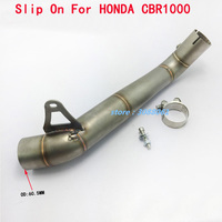 CBR1000RR Motorcycle Exhaust Modified Muffler Contact Middle Pipe Motorbike Link Pipe For HONDA CBR1000RR 2008 2009 2010 2011 13