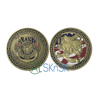 50/100pcs/lot New Gift Power of Positive Leadership U.S. Navy Chiefs Commemorative Coins Military Challenge Coins for Sale