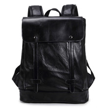 KUNDUI Luggage men's casual preppy backpack style retro fashion female student backpack PU leather travel bags boys school bag