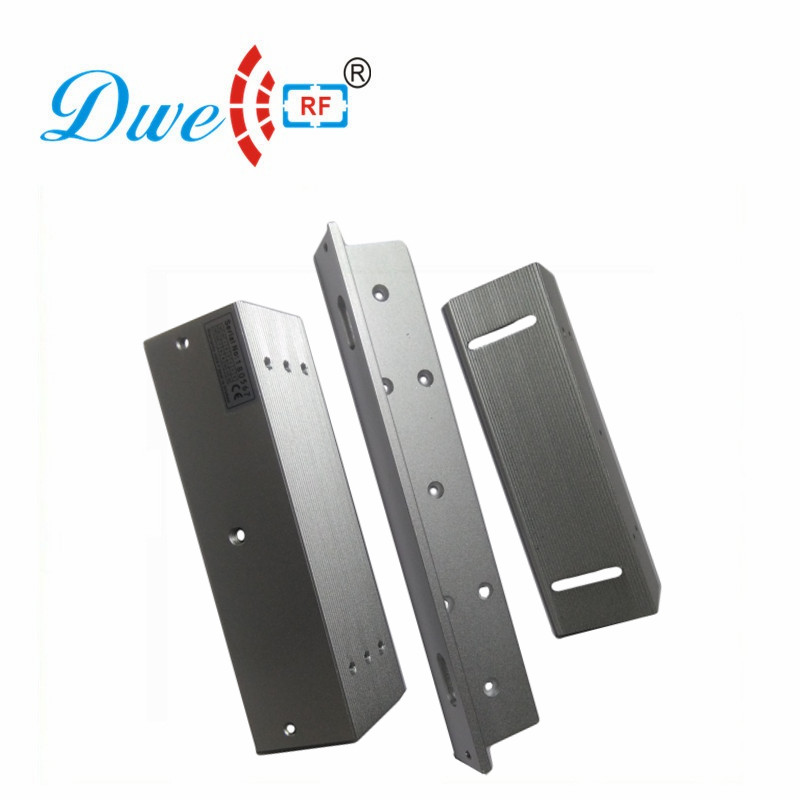 DWE CC RF Access Control Accessories 180KG Magnetic Lock Bracket For Swing Door Access Control System DW-180ZL dwe cc rf 2017 hot sell 13 56mhz 12v wg 26 rfid outdoor tag reader for security access control system