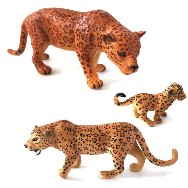 ZXZ Wild Animal Plastic Jaguar Model PVC Toy Jungle Wildlife Action Figure  Toy Kids Learning Toy