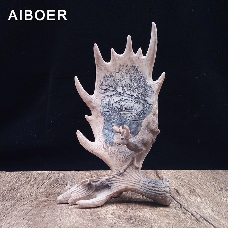 AIBOER Sculpture Modern Art Resin Figurine Animals Resin Statue Resin Sculpture Home Decor Decoration Maison Dekorasyon Decor