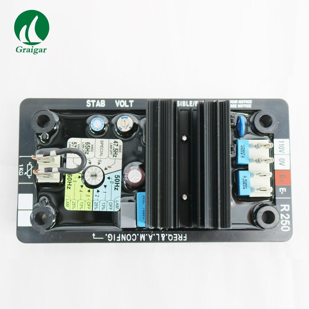 80-140 V AC 50/60Hz AVR R250 régulateur de tension automatique pour générateur 50/60Hz jumper sélectionnable
