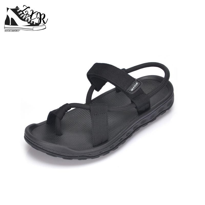 Men Sandals Summer Men Black Beach Sandals High Quality Unisex Summer Flat Shoes Sandalias Para Hombre Size 35-45
