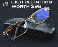 = CLARA VIDA = мужские золотые очки для чтения с защитой глаз от синего излучения, высококачественные очки для чтения + 1 + 1,5 + 2 + 2,5 + 3 + 3,5 + 4