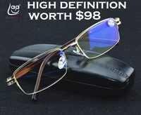 = CLARA VIDA = gafas de lectura de alta calidad con rayos azules y sensor dorado para hombres + 1 + 1,5 + 2 + 2,5 + 3 + 3,5 + 4