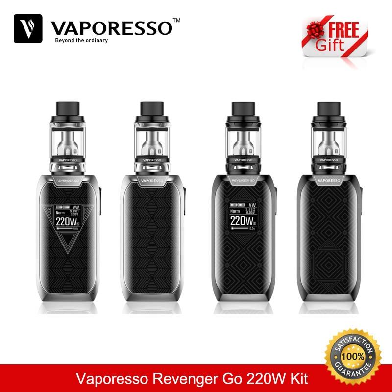 Cigarette Electronique Vaporesso Vengeur Aller 220 W TC Boîte Mod 5000 mAh 5.0 ML Vaporisateur Vaporisateur Électrique Cigarette Kit e Cigarette