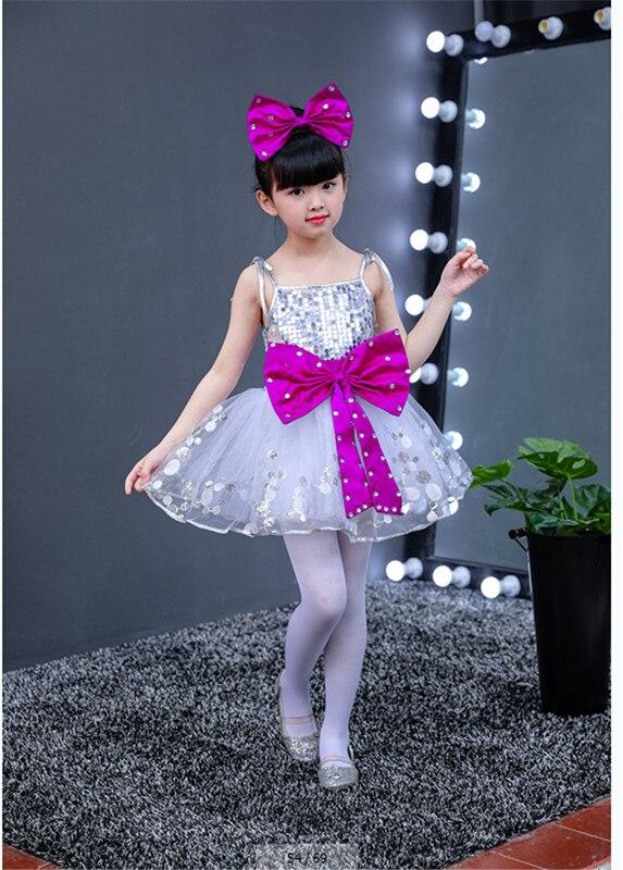 Детский танцевальный костюм, танцевальное платье с блестками для девочек, платье для сальсы, одежда для девочек, детская танцевальная одежда - Цвет: see chart