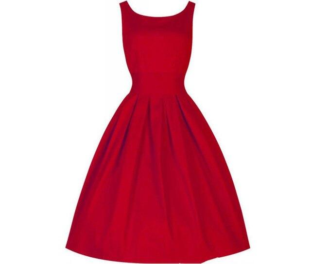 Frauen einteiliges Kleid Zelt Klassische 50er Audrey Hepburn Stil ...