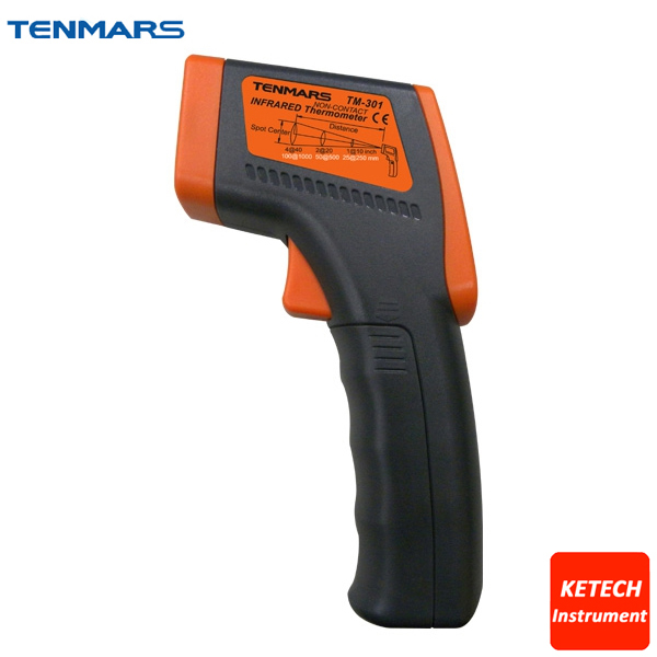 TM301 Infrared Thermometer with LCD Display for HVAC Inspection, Electrical Inspection and Motor Inspection hdom tm 206 1 5 lcd display aquarium thermometer black 100 240v