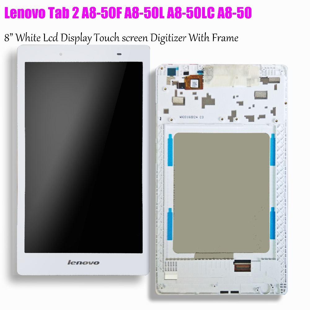 ap080205 - 8 inch Touch Screen and lcd display matrix With Frame Assembly For Lenovo Tab 2 A8-50 A8-50F A8-50L ZA04 A8-50LC LCD Display