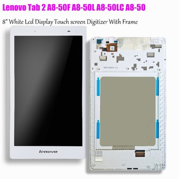 8 inch Touch Screen en lcd display matrix Met Frame Assembly Voor Lenovo Tab 2 A8-50 A8-50F A8-50L ZA04 A8-50LC LCD Display