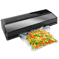 OLOEY 220V 110W Household Food Vacuum Sealer Packaging Machine Film Automatic Sealer Vacuum Packer