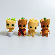 Hot  the avengers selling Tree man Grootted Children's toys action figure Birthday keychains bag pendants anime car key gifts
