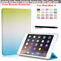 Colour Series Slim Smart Foldable Protective PU Front Case Transparent PC Back Cover Lightweight Case for Apple iPad Mini 4
