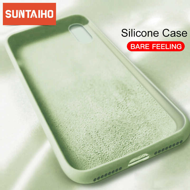 Originele Vloeibare Siliconen Cases Voor iPhone 7 8 Plus XS Max XR Gevallen Soft Back Matte Phone Case Voor iPhone X XS 8 7 Plus Cover