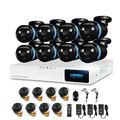 H. view 8ch sistema de câmera de segurança cctv sistema de 8x1080 p cctv camera kit sistema de vigilância da câmera 2.0mp camaras seguridad casa