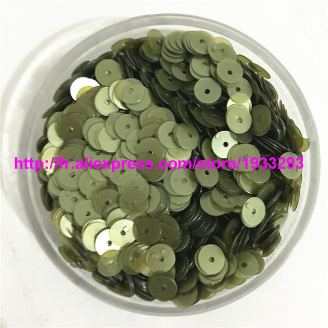 50g(4000pcs) Matt Olive Color 6mm Flat round loose sequins Paillettes sewing  Wedding craft Good quality For Kids DIY 96cd41b02ffb