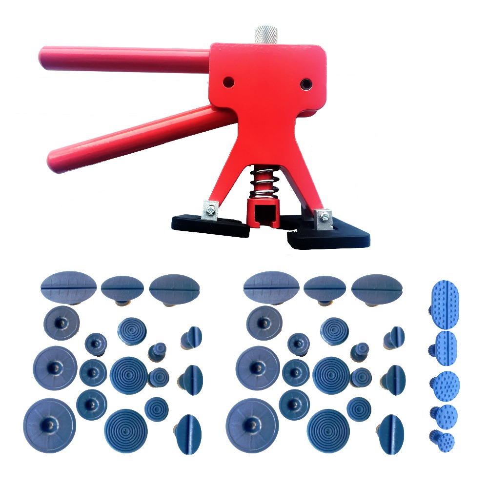 42Pcs Dent Repair Tools Hail Ding Remover Paintless Removal Puller Tabs Lifter Hand Tool Set