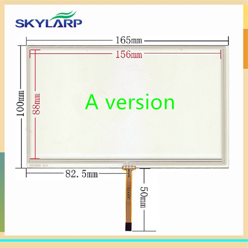 skylarpu New 7 inch Touch screen 165mm*100mm digitizer panel for Car navigation DVD universal Touchscreen Free shipping