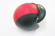 Red helmet Harley Leather Helmets 3/4 Motorcycle Chopper Bike helmet open face vintage motorcycle helmet women