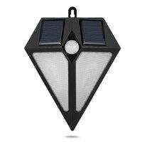 LED Wall Lamp Solar Powered PIR Motion Sensor Wall Light Waterproof Garden Street Porch Light Outdoor Lighting