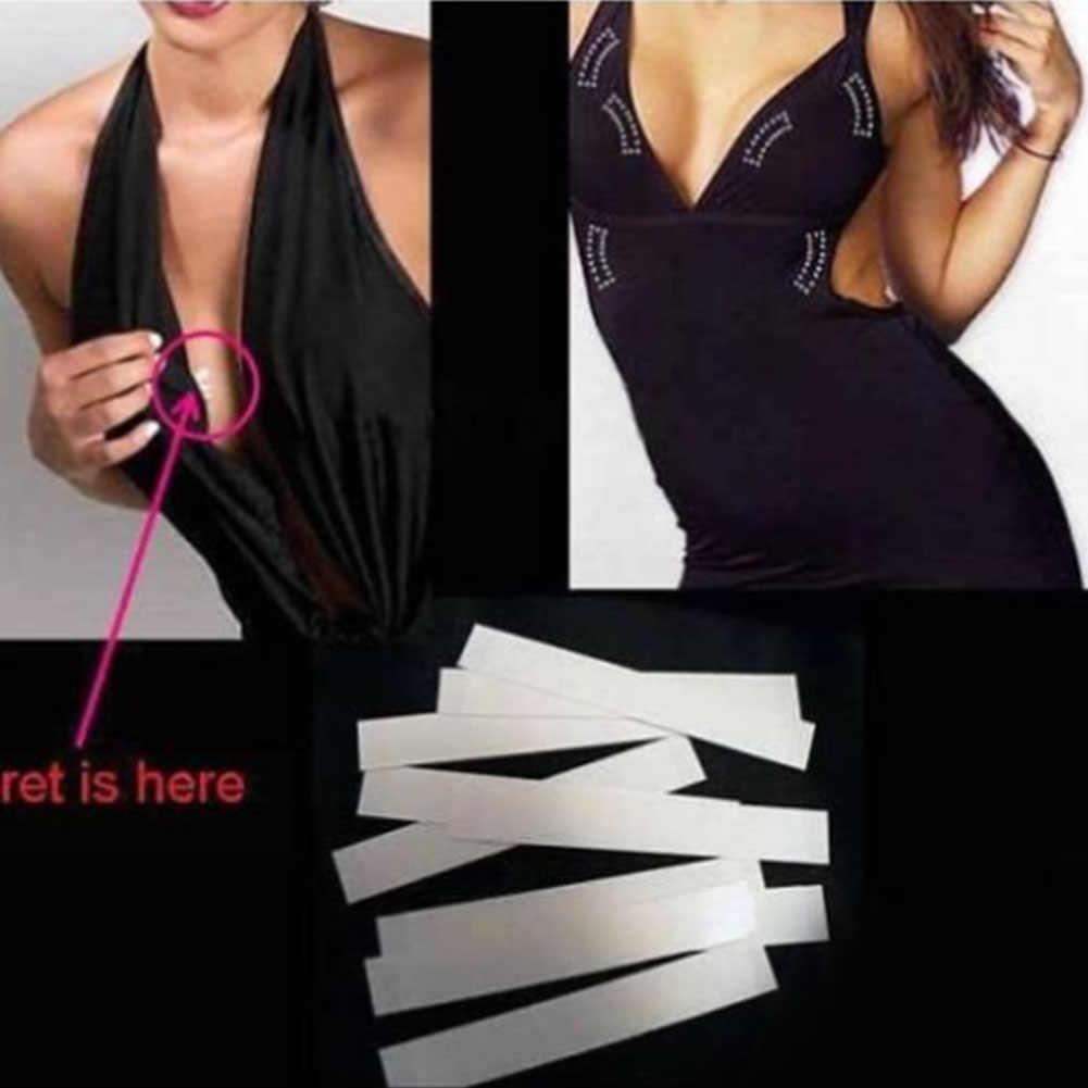 ชุดกันน้ำ Toupee สองหน้า Secret กาวแฟชั่น Breast วิกผม Bra Strip ปลอดภัยชุดชั้นใน Clear