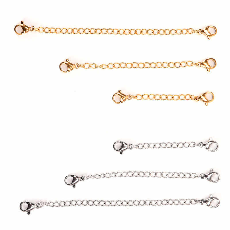 1 pcs 50mm/75mm/100mm Silver Gold Color Necklace Bracelets Anklets Extension Chain For DIY Jewelry Making Tools