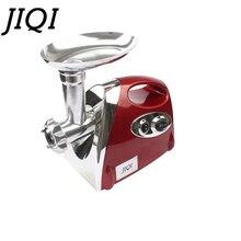 JIQI משולב חשמלי מטחנת מטחנת בשר מילוי נקניק מילוי יצרנית מכונה stuffer ירקות מבצעה חותך 110 V 220 V