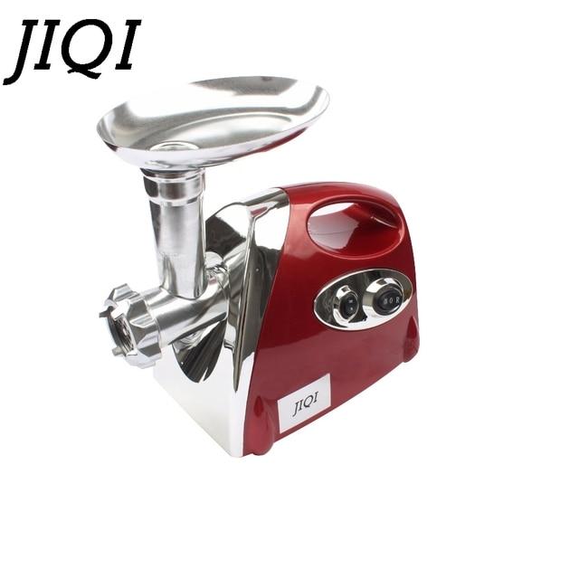 Jiqi moedor de legumes elétrico, máquina multifuncional para enchimento de linguiça, cortador de legumes 110v 220v