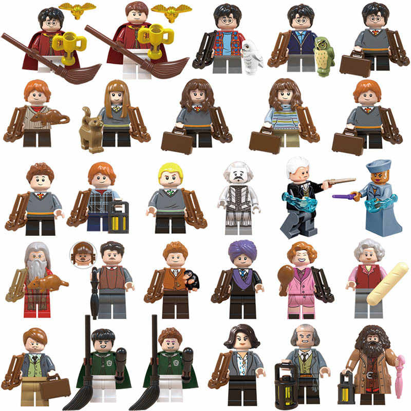 NEW Toy lot mini Figures Harri Potter Dumbledore Building Blocks Plastic Christmas Gifts Toys Bricks Collection Set for Children