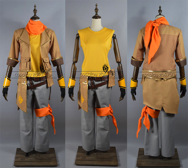 2017 Yang Xiao Long Male Version RWBY Cosplay Costume For Halloween Carnival Party