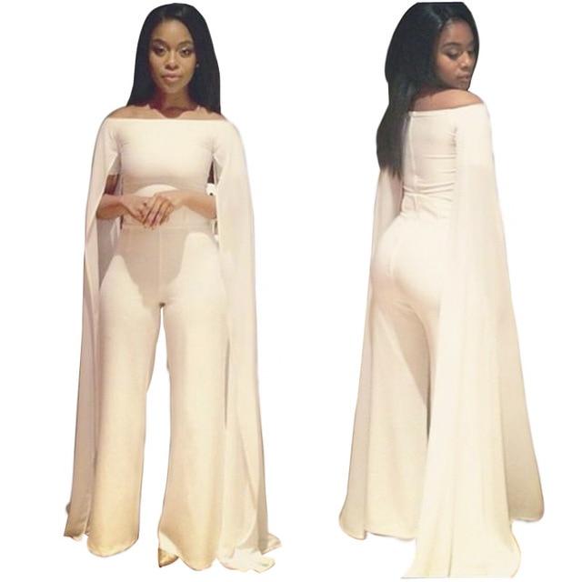 2fbb2a9c6258 2016 Aliexpress New Type European and American Fashion Ladies Slim Casual  Skinny Siamese Cloak Jumpsuits