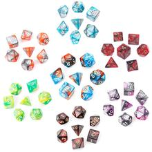 7pcs/Set Acrylic Polyhedral Dice For TRPG Board Game Dungeons And Dragons D4-D20 цены онлайн