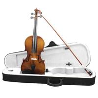 4/4 Full Size Vintage Acoustic Violin Practice Fiddle with Case Bow for Beginner