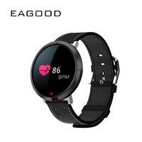 EAGOOD Fashion Smart Bracelet 2019 Sleep Heart Rate Blood Pressure Monitor Sports Waterproof Color Circle Screen Smart Wristband