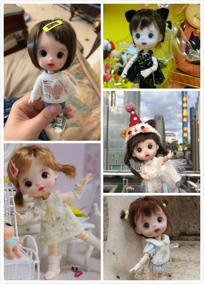 OB11 Handmade ตุ๊กตาการปรับแต่งตุ๊กตามินิตุ๊กตาตุ๊กตาน่ารัก-ใน ตุ๊กตา จาก ของเล่นและงานอดิเรก บน   1