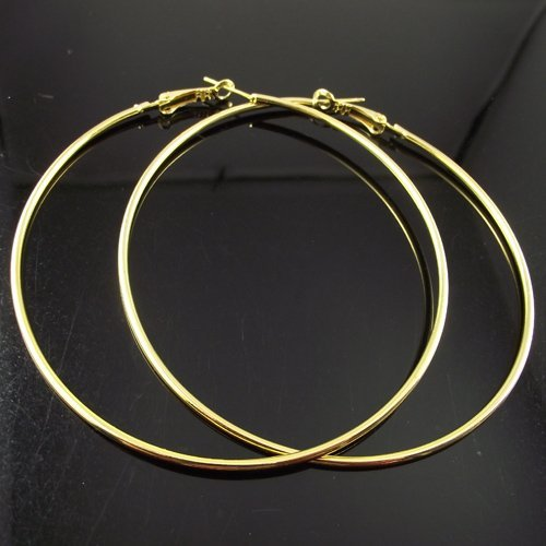 24 Pairs 80mm Gold Hoop Earrings Circle Earring Promotion Paparazzi Basketball Wives Free Shipping In From Jewelry Accessories