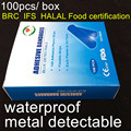 (100pcs/box) sterile blue waterproof  detectable band-aid (metal detectable) food strips plaster the BRC,IFS,Halal