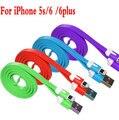 Nueva i6 i5 de Fideos Data Sync Cable Cargador USB Cable de Datos Magnético para iphone 6 6 plus 5 5s 5c ipod para ipad mini 100 cm cable usb