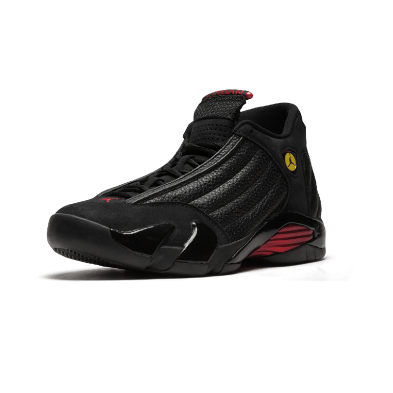 Original Authentic NIKE Air Jordan 14 Retro Men's Basketball Shoes Sport Outdoor Sneakers Medium Cut Lace-Up Good Quality 487471 57