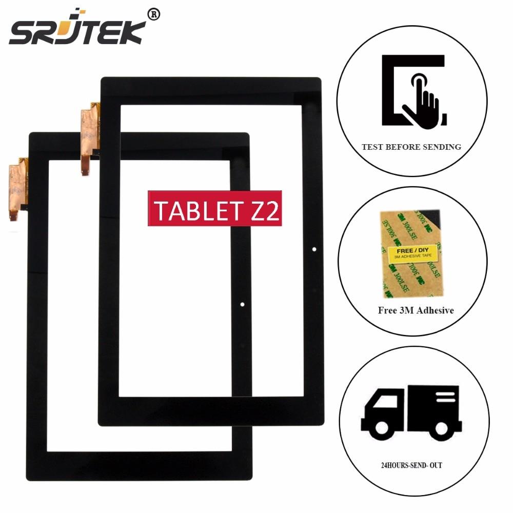 Srjtek 10.1 For Sony Xperia Tablet Z2 SGP511 SGP512 Touch Screen Digitizer Panel Sensor Glass Tablet PC Replacement lcd touch screen digitizer glass for sony xperia z2 d6502 d6503 d6543