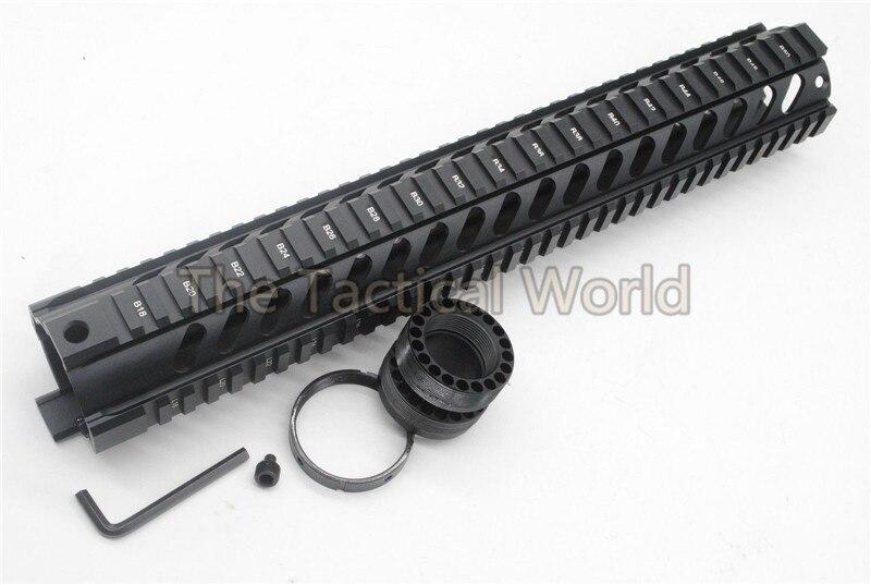 Tactique extérieure 15 ''pouces robuste Handguard AR-15 M16 M4 Handguard gratuit flotteur Quad Rail pour AR. 223/5. 56 RAS chasse Shoot
