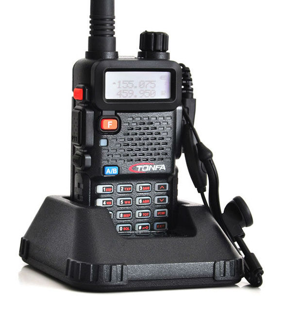 Hot Sale 2pcs Walkie Talkie VHF+UHF Dual band 8W 128CH UV-985 VOX DTMF Two Way Radio Interphone Transceiver A1002A