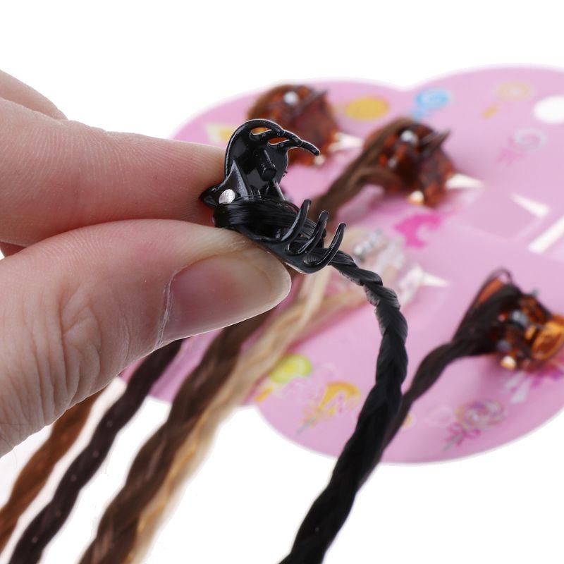 Kids Girls Colorful Wigs Ponytail Hairpin Beauty Headwear Kids Hair Braid