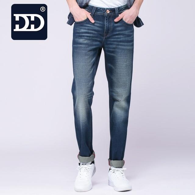 Dingdi Biker Jeans Jeans Para Hombre Flaco Slim Fit Pantalones Vaqueros Lavados los hombres de Mezclilla Vaqueros Pantalones Pantalones de Los Hombres 29-38 Tamaño Hombre