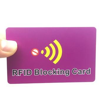 1000pcs Lot CMYK Custom Printing Credit Card Protector Block RFID NFC Signals RFID Blocking Card