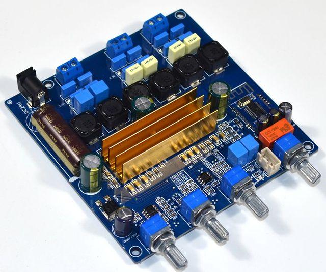 TPA3116 bluetooth 4.2オーディオデジタルアンプボード2.1サブウーファーアンプ50 + 50ワット + 100ワット低音ハイファイトーンボード