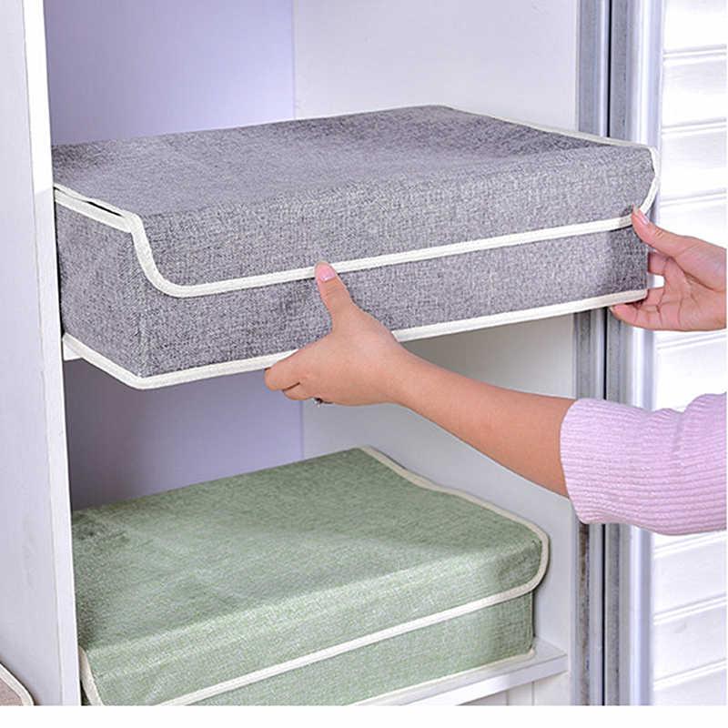 Ткань Искусство нижнее белье носки интегрированная коробка бытовой мини-Бюсгальтер ящик-органайзер для хранения моющиеся трусы отделочные коробки 13 решетки
