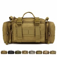 1000D Durable Nylon Military Assault Molle Waist Fanny Pack Vintage Men Travel Messenger Shoulder Bag Water Bottle/Kettle Bags